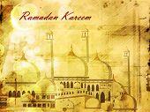 Beautiful Mosque and Masjid background for Ramadan Kareem or Ramazan Kareem. EPS 10. poster