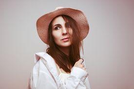 Beautiful Woman Portrait. Beauty Woman Face Portrait. Beautiful Model Woman Portrait. Stylish Woman