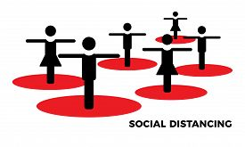 Coronavirus Covid-19 Virus Social Distance Concept. Safety Disease Advice