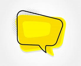 Chat Bubble Icon. Contact Message Sign. Talk, Speak Symbol. Communication Balloon Template. Support