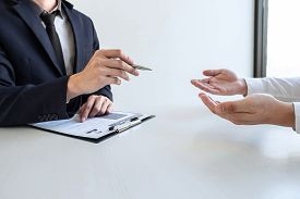 Businessman Interview Consider A Resume Conversation During About Profile Of Candidate Of Conducting