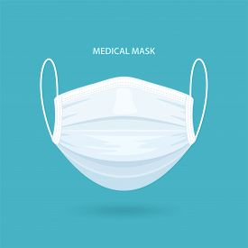 Medical Or Surgical Face Mask. Virus Protection. Breathing Respirator Mask. Health Care Concept. Vec