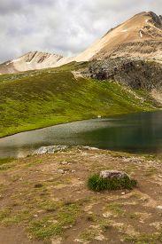 The Rocky Mountains. Cirque Peak Above Helen Lake, Banff National Park, Alberta, Canada