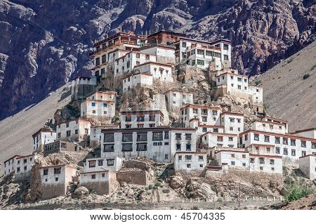 Kee monastery in himalayas mountain