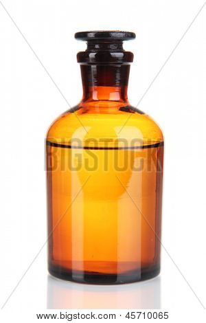 Medicine bottle isolated on white