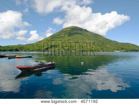 Gunung Api active volcano Banda islands Indonesia poster
