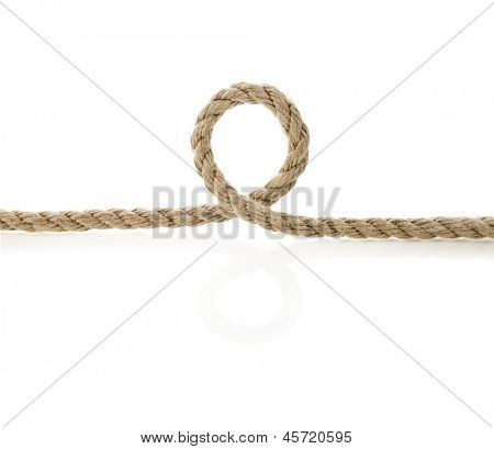 Jute rope isolated on white background