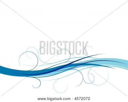 Blue Swirl Banner Background