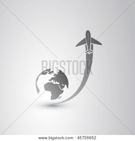 Go to sky - Airplane Icon poster