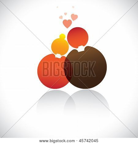 Boyfriend & Girlfriend(romeo, Juliet) Icon(symbol)-vector Graphic