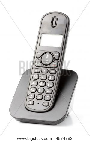 duct cordless phone isolated on withe background poster