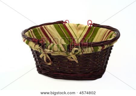 Cane Basket With Handles Down