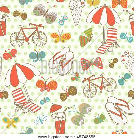 Travel concept seamless pattern. Seamless pattern can be used for wallpapers, pattern fills, web page backgrounds,surface textures.
