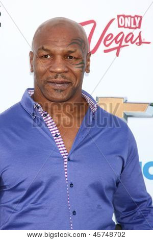 LOS ANGELES -  MAY 19:  Mike Tyson arrives at the Billboard Music Awards 2013 at the MGM Grand Garden Arena on May 19, 2013 in Las Vegas, NV