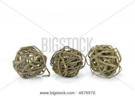 Decorative balls isolated against a white background poster