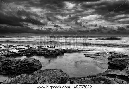 Sunrise Landscape Of Ocean