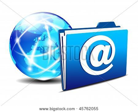 Email Folder and Communication Internet World Europe
