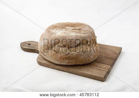 Bread on a kitchen board
