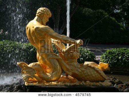 Fountain Triton At The Peterhof