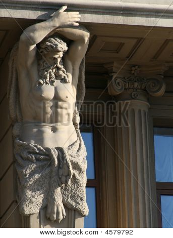 The Statues Of Hercules Outside A House In Saint-peterburg