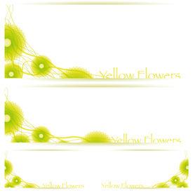 Flower vector background brochure template