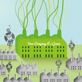 Green Company and Factory abstract Background