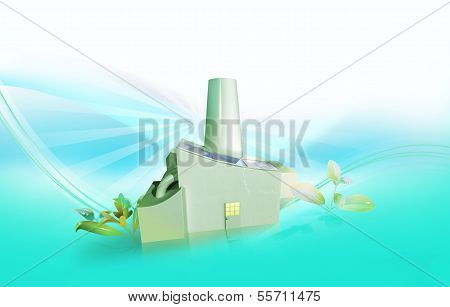 Factory With Solar Panels