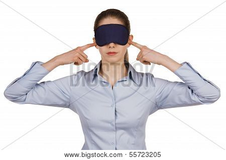 Young Woman With A Blindfold