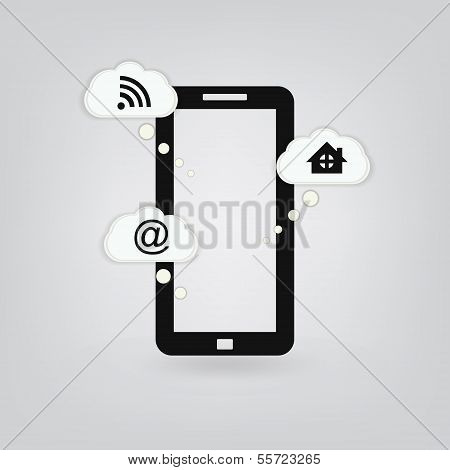 Smartphone isolated
