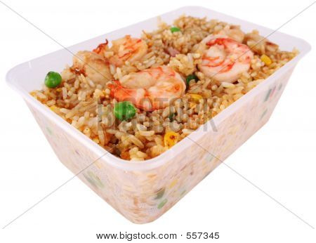Fried Rice With Clipping Path