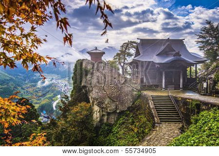 Yamadera Mountain Temple in Yamagata, Japan.
