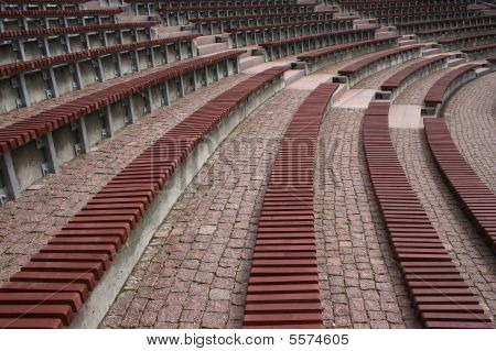 Benches At Amphitheatre