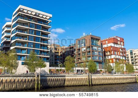 Apartment houses in the Hafencity