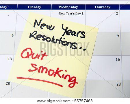 New Years Resolution Quit Smoking