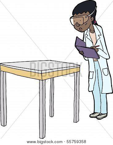 Female Scientist Taking Notes