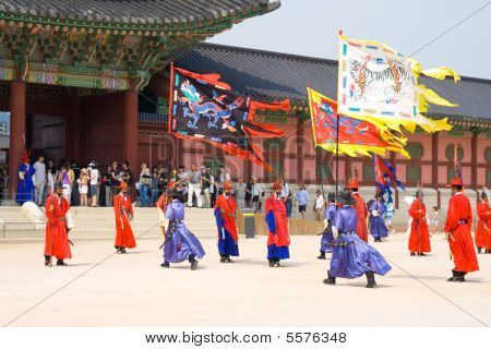 Guards Of Emperor Palace At Seoul