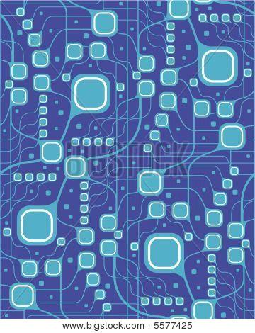 Seamless motherboard style pattern