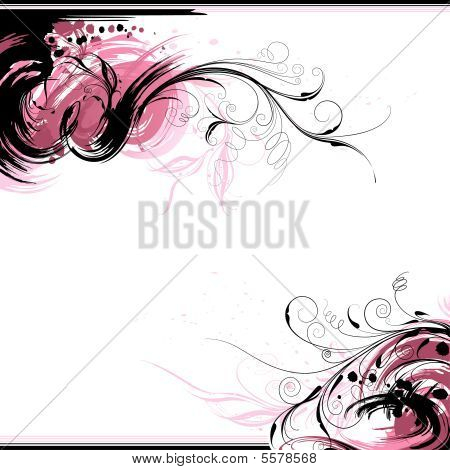 Floral Ink Background