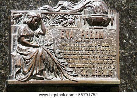 Cemetery in Recoleta, the grave site of Evita Peron