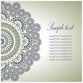 Vintage Background Traditional Ottoman  motifs. Vector  illustration poster