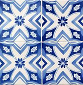 Close view at the traditional tile from Porto, Portugal poster