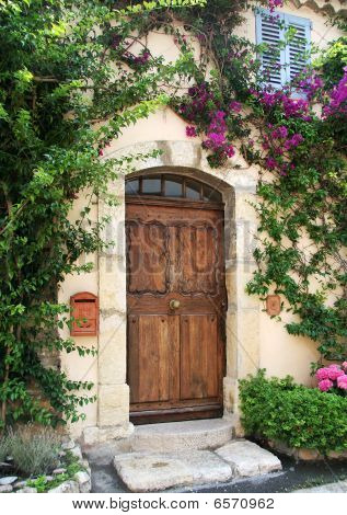 Villa doorway, France