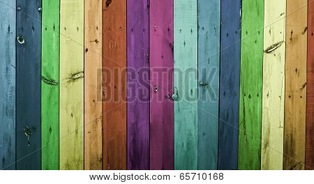 The colorful wood planks background , abstract poster