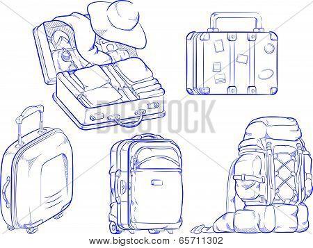 Sketch of Travel Object & Symbol