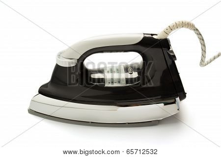 Classic electric iron on isolated background