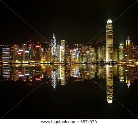 Hongkong Skylines At Night
