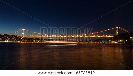 Fatih Sultan Mehmet Bridge in Istanbul City poster