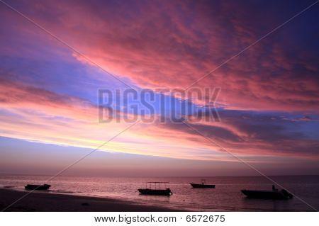 Sunset At Ifaty Beach