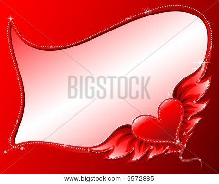 Heart with wings frame