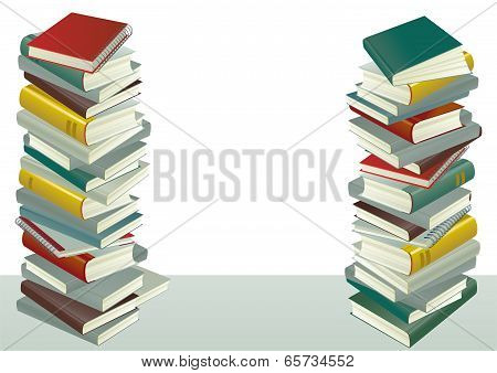 piles of the books